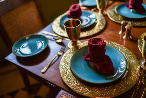 Place setting at The Awadh House